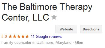 Use online reviews to find a therapist in Baltimore